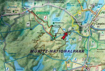Karte des Weltnaturerbegebiets Serrahn im Müritz-Nationalpark