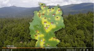 Pilzkarte von Deutschland